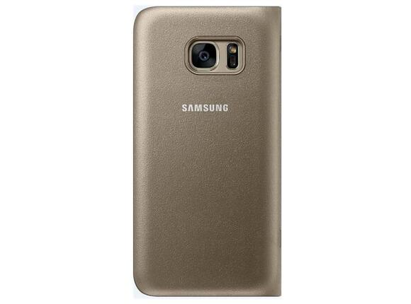 Калъф Samsung G930 LEDViewCover Gold for GalaxyS7 - 2