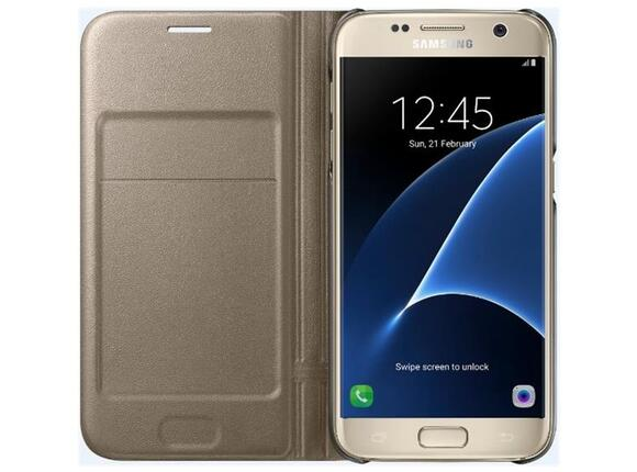 Калъф Samsung G930 LEDViewCover Gold for GalaxyS7 - 3
