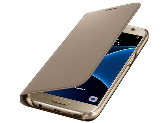 Калъф Samsung G930 LEDViewCover Gold for GalaxyS7 - 4