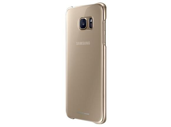 Калъф Samsung G935 ClearCover Gold for GalaxyS7 Edge