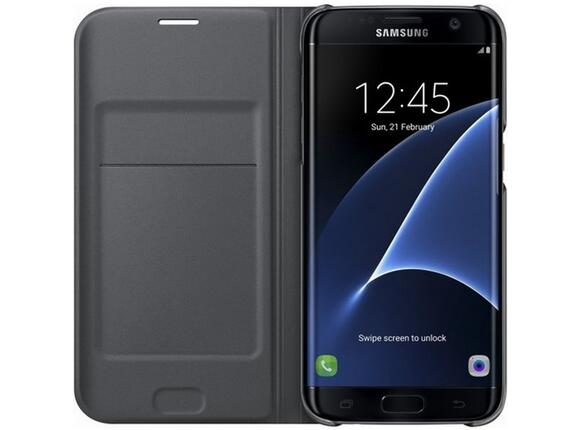Калъф Samsung G935 FlipWallet Black for GalaxyS7 Edge