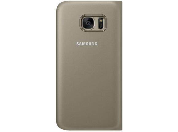 Калъф Samsung G930 FlipWallet Gold for GalaxyS7 - 3
