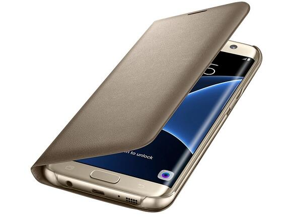 Калъф Samsung G935 LEDViewCover Gold for GalaxyS7+