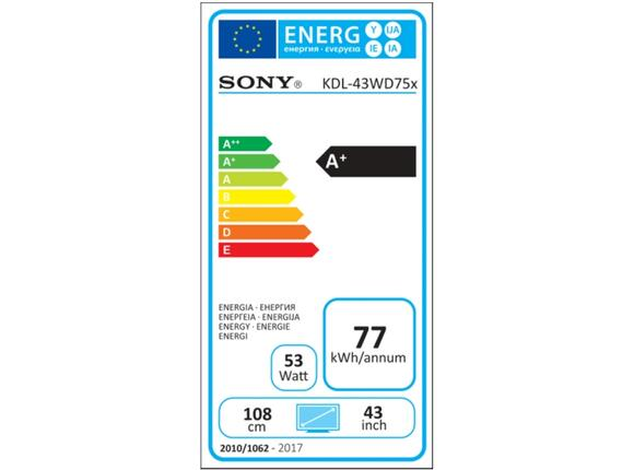 "Телевизор Sony KDL-43WD755 43"" Full HD LED TV BRAVIA - 2"