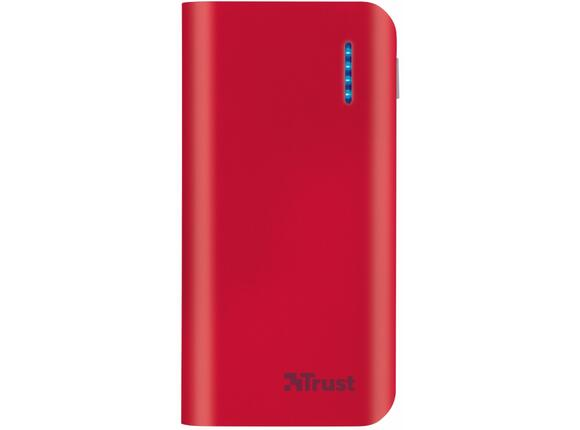 Захранване TRUST Primo Power Bank 4400 Portable Charger - red - 3