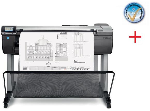 Плотер HP DesignJet T830 36-in MFP + HP Care Pack (3Y) - HP 3y Nbd Designjet T830 MFP HW Support