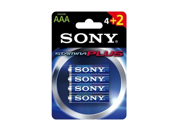 Батерия Sony AM4-B4X2D Alkaline LR3 Stamina Plus 4+2pcs - 3