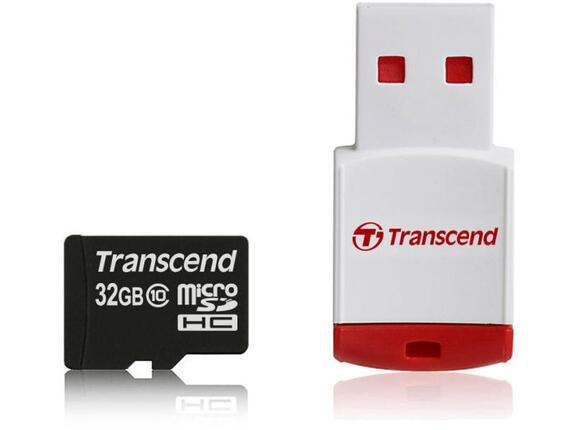 Флаш карта Transcend microSDHC Class 10 with P3 Card Reader