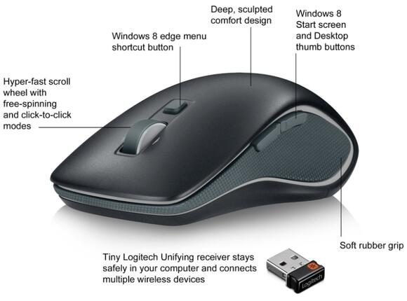 Мишка Logitech Wireless Mouse M560 - 9