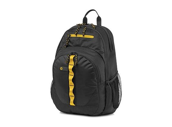 "Backpack HP 15.6"" Sport Backpack (Black/Yellow)"