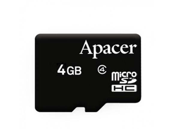 Флаш карта Apacer 4GB Micro-Secure Digital HC Class 4 no adapter