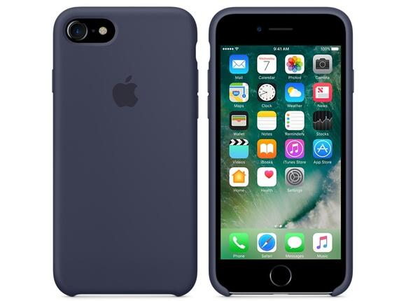 Калъф Apple iPhone 7 Silicone Case - Midnight Blue - 2