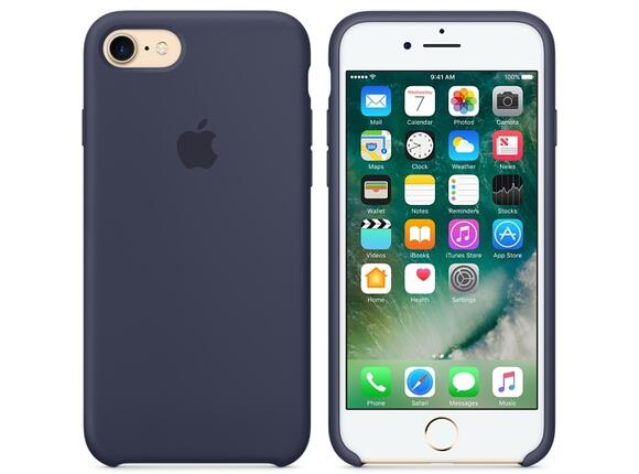 Калъф Apple iPhone 7 Silicone Case - Midnight Blue - 5