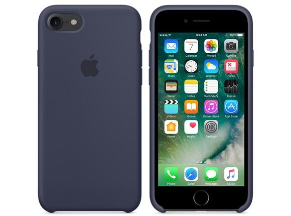 Калъф Apple iPhone 7 Silicone Case - Midnight Blue - 3