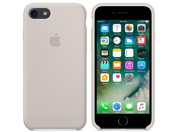 Калъф Apple iPhone 7 Silicone Case - Stone - 3