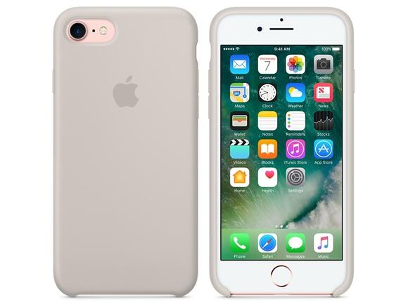 Калъф Apple iPhone 7 Silicone Case - Stone - 6