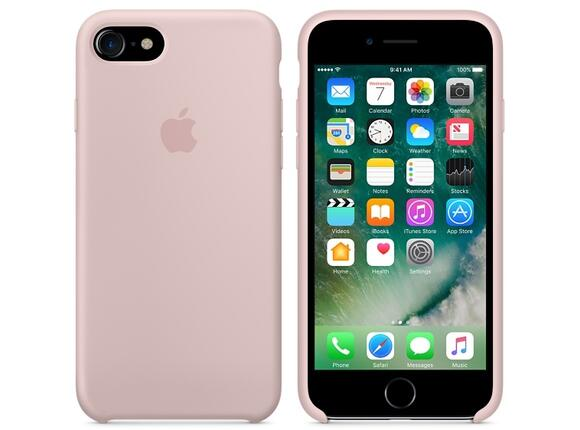 Калъф Apple iPhone 7 Silicone Case - Pink Sand - 2