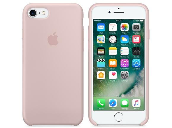 Калъф Apple iPhone 7 Silicone Case - Pink Sand - 4