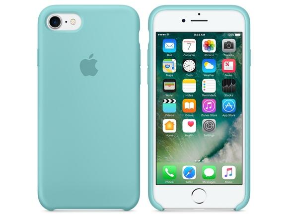 Калъф Apple iPhone 7 Silicone Case - Sea Blue - 4