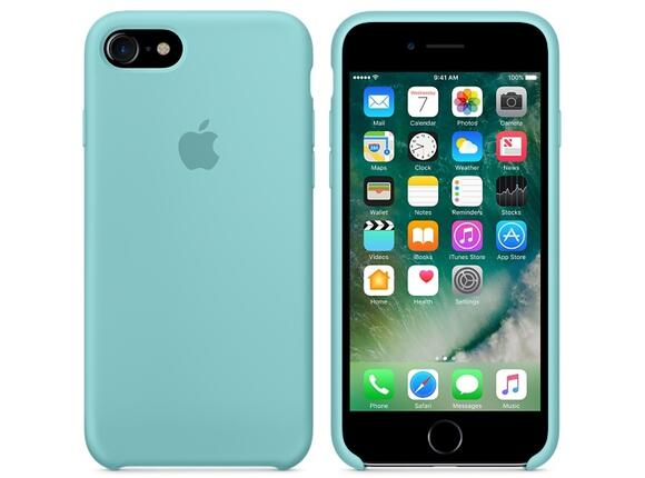 Калъф Apple iPhone 7 Silicone Case - Sea Blue - 2