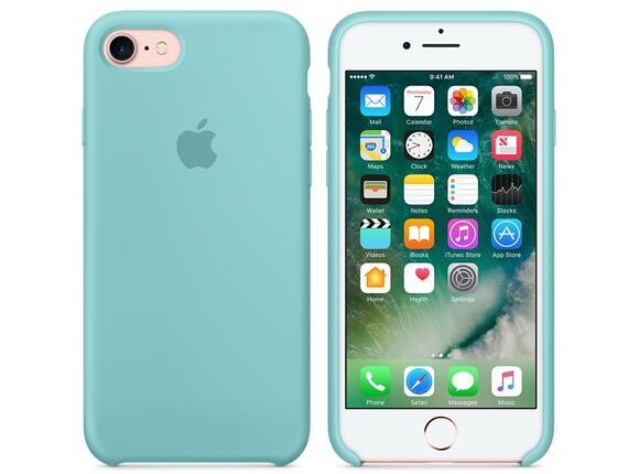 Калъф Apple iPhone 7 Silicone Case - Sea Blue - 6