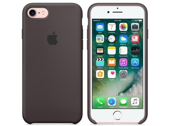 Калъф Apple iPhone 7 Silicone Case - Cocoa - 6
