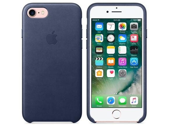 Калъф Apple iPhone 7 Leather Case - Midnight Blue - 6