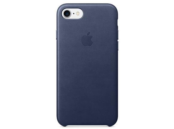 Калъф Apple iPhone 7 Leather Case - Midnight Blue