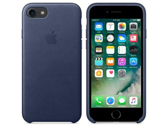 Калъф Apple iPhone 7 Leather Case - Midnight Blue - 3
