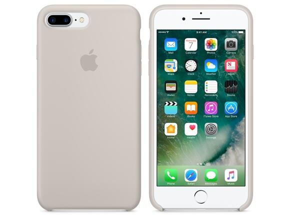 Калъф Apple iPhone 7 Plus Silicone Case - Stone - 4