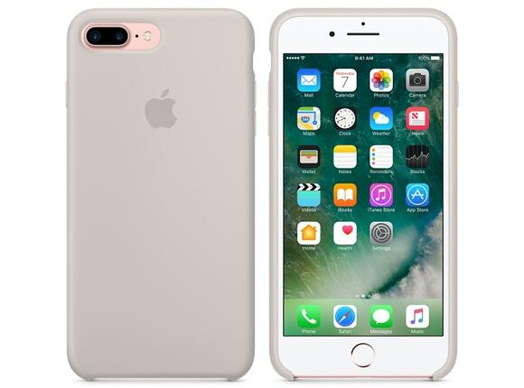 Калъф Apple iPhone 7 Plus Silicone Case - Stone - 6