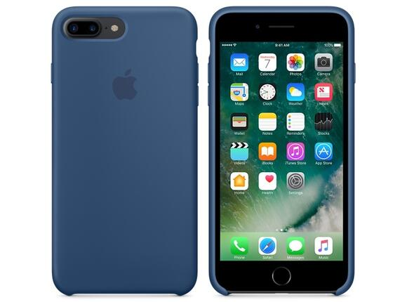 Калъф Apple iPhone 7 Plus Silicone Case - Ocean Blue - 3