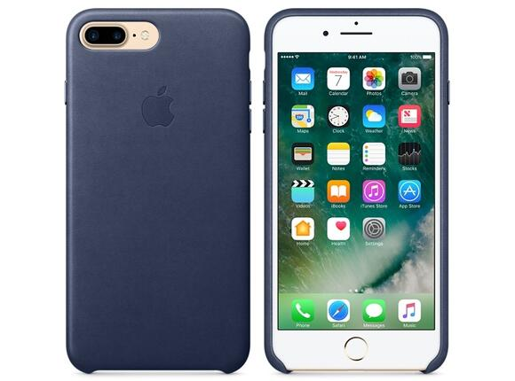 Калъф Apple iPhone 7 Plus Leather Case - Midnight Blue - 5