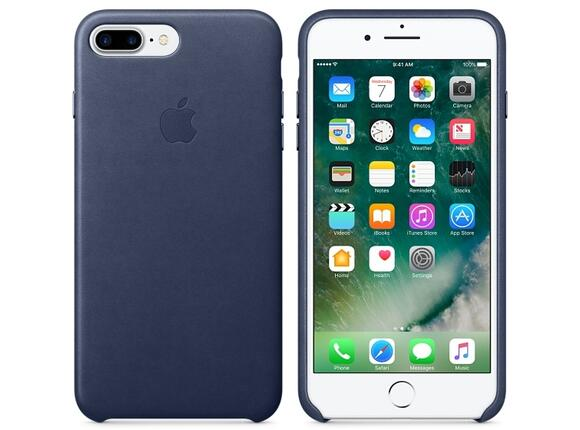 Калъф Apple iPhone 7 Plus Leather Case - Midnight Blue - 4