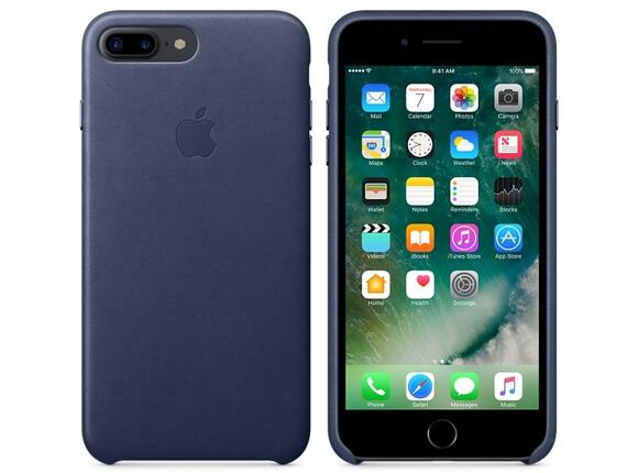 Калъф Apple iPhone 7 Plus Leather Case - Midnight Blue - 3