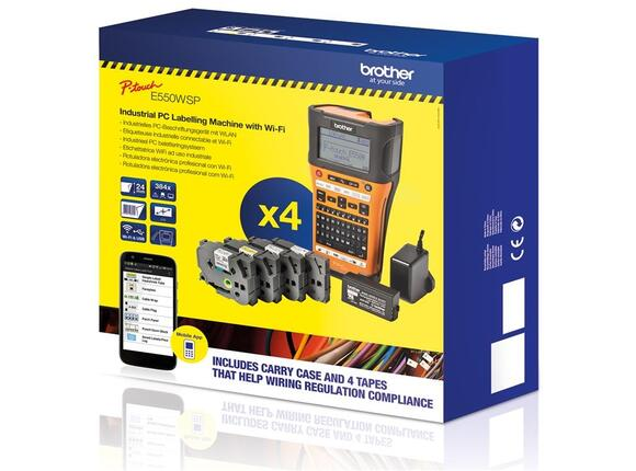 Етикетна система Brother PT-E550WVP Handheld Industrial Labelling system + 1x TZEFX231