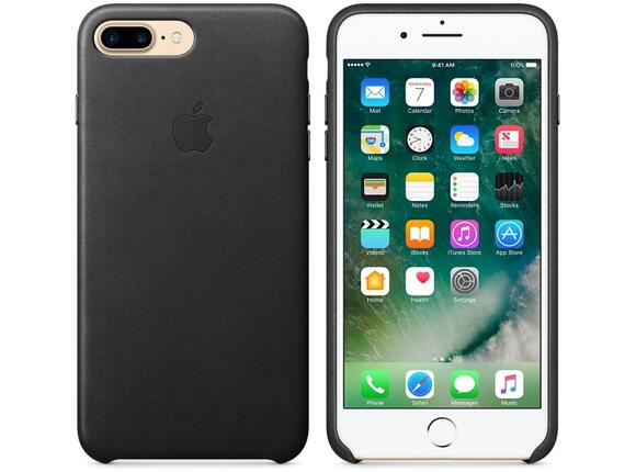 Калъф Apple iPhone 7 Plus Leather Case - Black - 5
