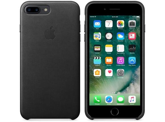 Калъф Apple iPhone 7 Plus Leather Case - Black - 3
