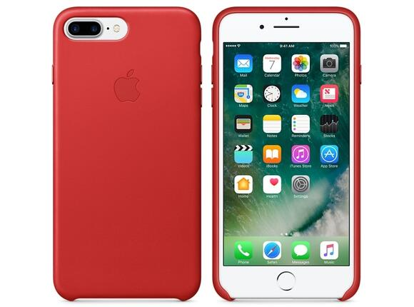 Калъф Apple iPhone 7 Plus Leather Case - (PRODUCT)RED