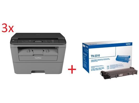 Мултифункционално у-во 3х Brother DCP-L2500D Laser Multifunctional + Brother TN-2310 Toner Cartridge Standard