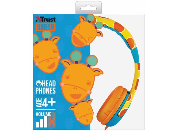 Слушалки TRUST Spila Kids Headphone - giraffe - 6
