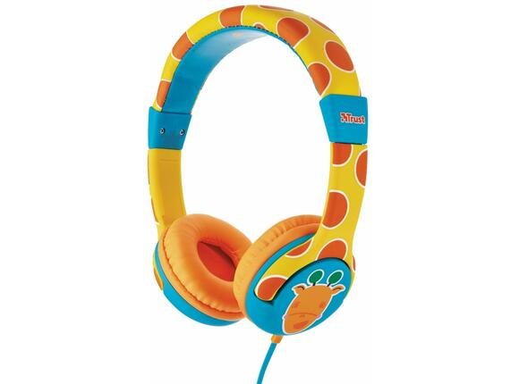 Слушалки TRUST Spila Kids Headphone - giraffe