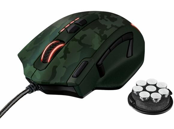 Мишка TRUST GXT 155C Gaming Mouse - green camouflage