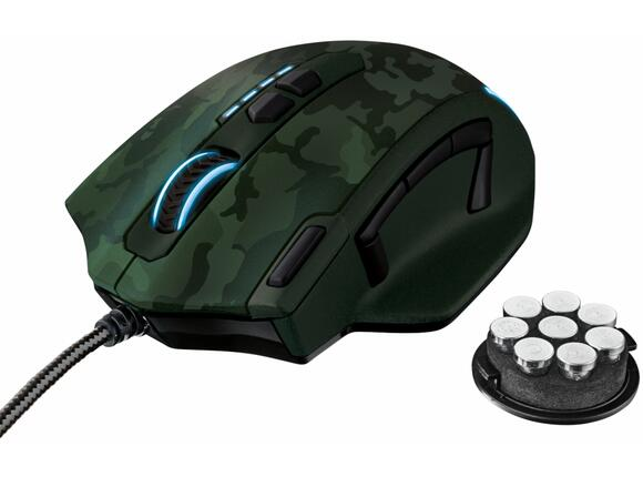 Мишка TRUST GXT 155C Gaming Mouse - green camouflage - 3