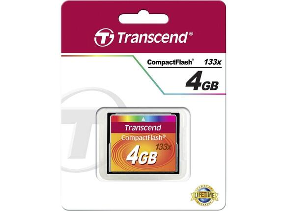 Флаш карта Transcend 4GB CF Card (133X) - 2