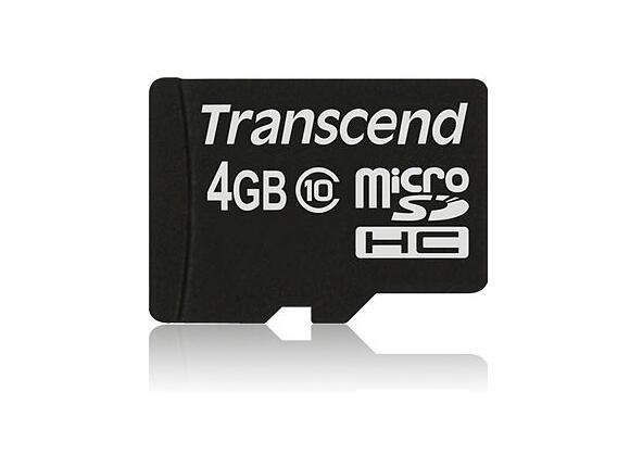 Флаш карта Transcend 4GB micro SDHC (No Box & Adapter - Class 10) - 2