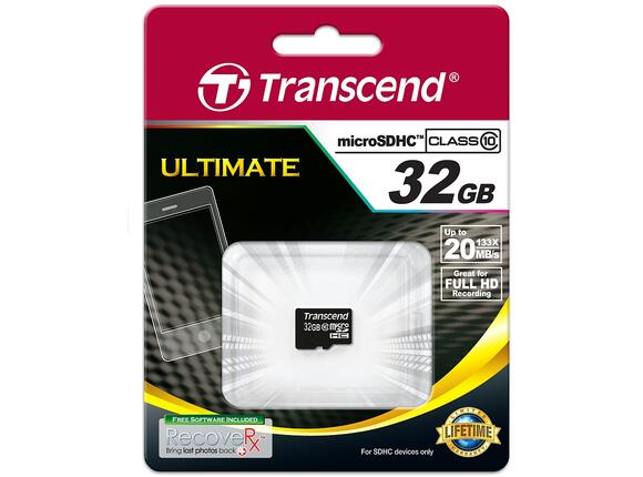 Флаш карта Transcend 32GB micro SDHC (No Box & Adapter - Class 10) - 2