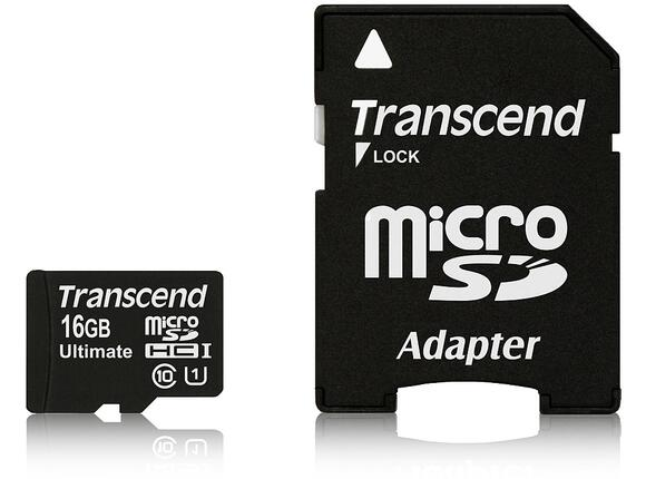 Флаш карта Transcend 16GB micro SDHC UHS-I Ultimate (with adapter