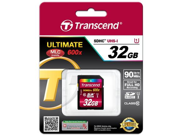 Флаш карта Transcend 32GB SDHC UHS-I Ultimate (Class10) - 2