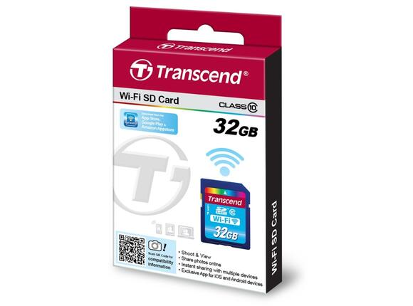 Флаш карта Transcend 32GB Wi-Fi SDHC Card (Class 10) - 2